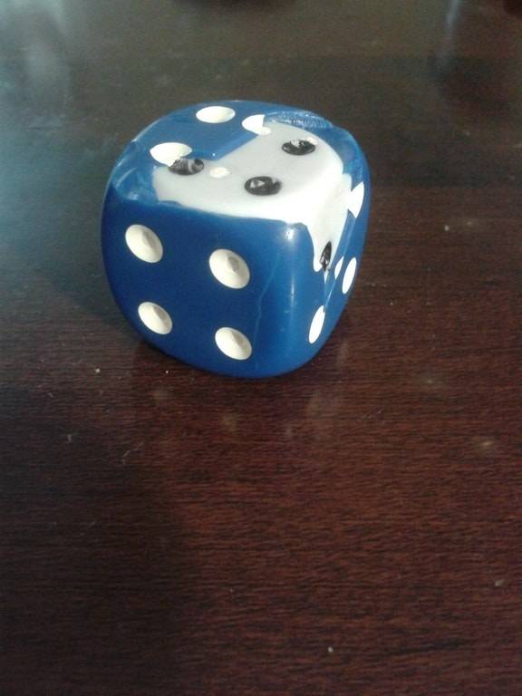 The inside of a die: