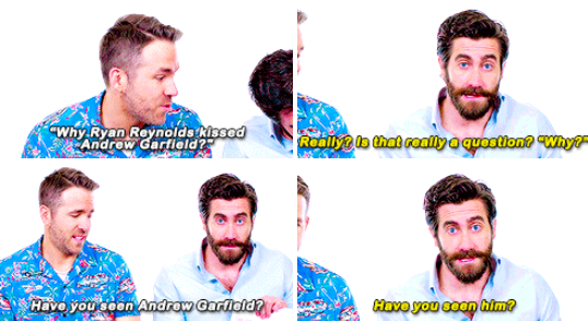When he said what we were all thinking about Andrew Garfield.