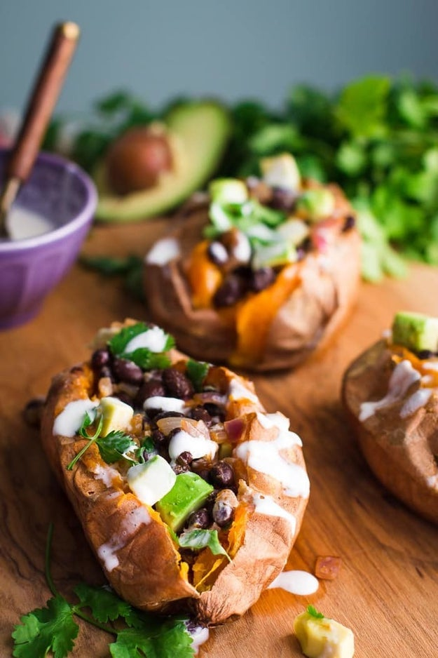 Black Bean Stuffed Sweet Potatoes