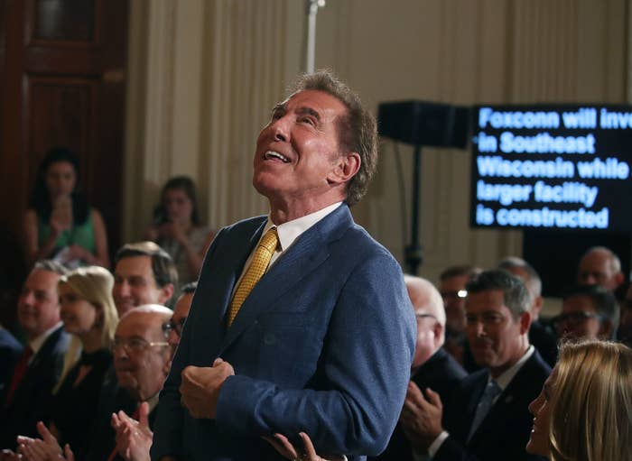 Steve Wynn at a news conference held by President Donald Trump in the East Room of the White House July 26, 2017.