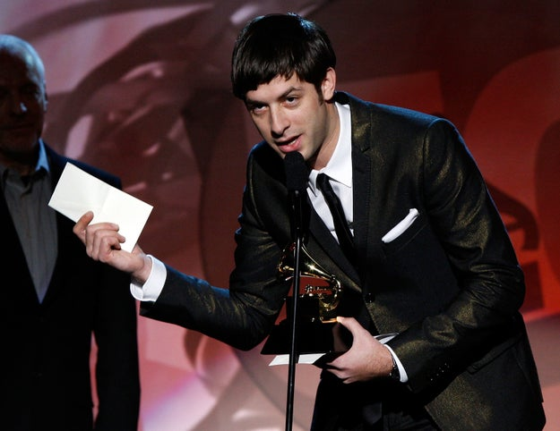 And she still won five Grammys that night! Mark Ronson, who produced and co-authored the album Back to Black, attended the ceremony to receive the awards on her behalf.