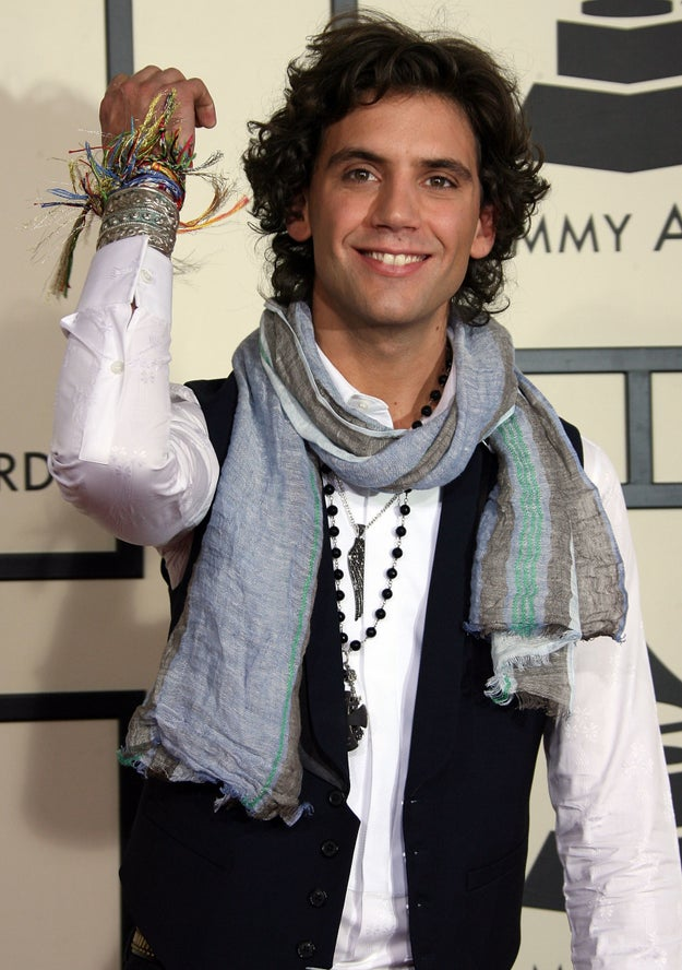 And remember Mika?? Here he is on the red carpet, with some serious bracelet action going on.