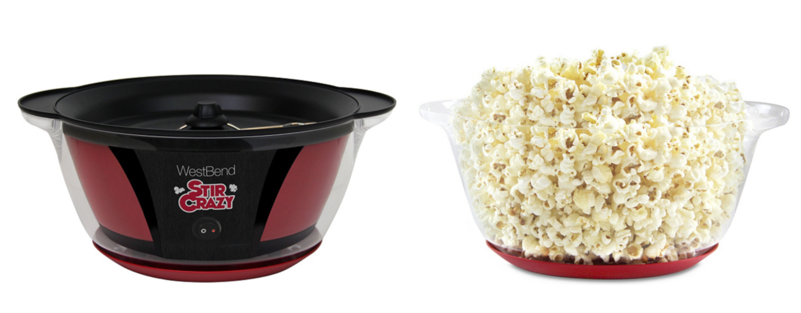 A six-quart popcorn popper that has a butter-melting system AND turns into a serving bowl.