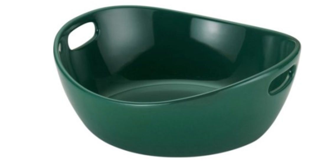 A 10-inch stoneware bowl by Rachel Ray that's oven safe up to 350°F.