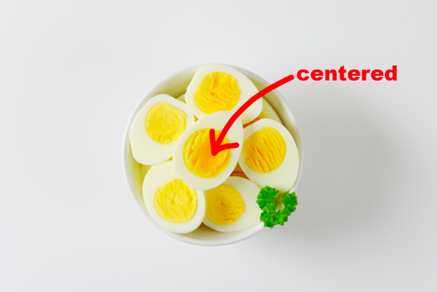 Store your eggs tip-point down to center the yolk.