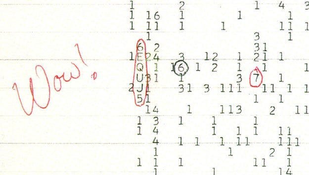 """The """"Wow!"""" signal:"""