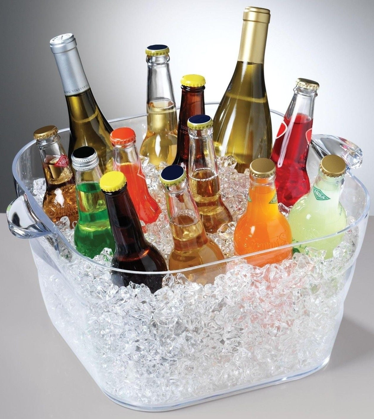 A giant party tub to fill with every beverage you can find.