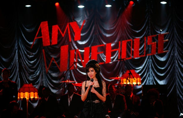 And Amy Winehouse performed via satellite from London...