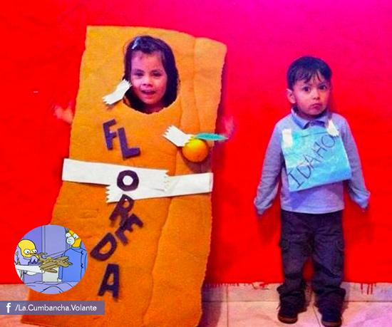La Cumbancha Volante ha organizado 11 competencias en las que sus usuarios inmortalizan sus capítulos favoritos del programa, como estos niños haciéndola de Lisa y Rafa.