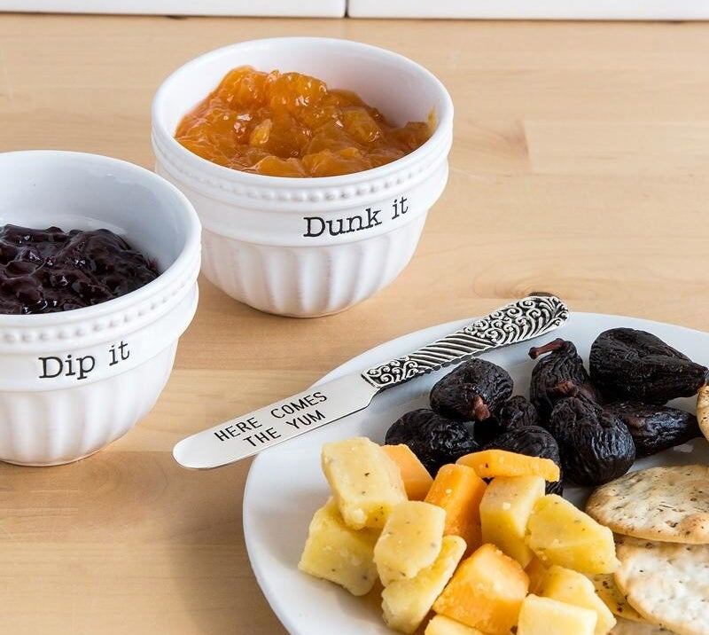 "A cute pair of ""Dip It/Dunk It"" bowls because ramekins are boring and someone needs to speak up about it."