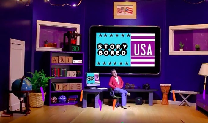 In award-winning filmmaker William D. Caballero's web series, StoryBored USA, a 3D-printed Caballero explores the uniqueness of the creative process through interviews with diverse artists and creators. The series provides amazing tips for young artists and showcases excellent young talent.
