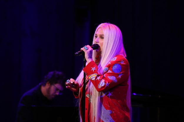 """When I wrote 'Praying,' with Ben Abraham and Ryan Lewis, i just felt as if I had gotten a huge weight off of my shoulders,"" she said."