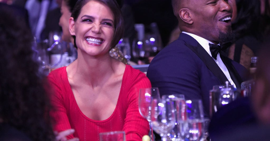 I'm Obsessed With These Photos Of Jamie Foxx And Katie Holmes Looking Like Real Life Heart-Eye Emojis