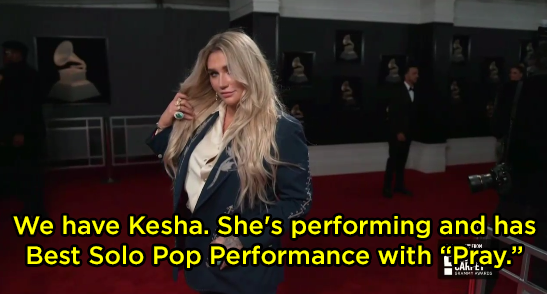 The E! reporters referred to Kesha's song as