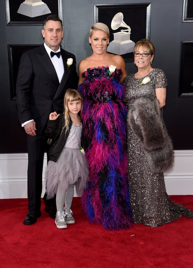Pink and her family