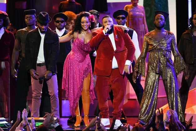 """But tonight at the Grammys, she truly took it up a notch with her performance of """"Wild Thoughts,"""" alongside DJ Khaled."""