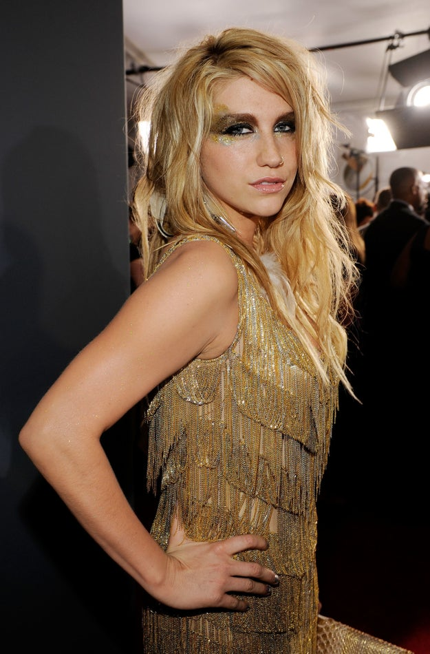"""In 2010, the then-Ke$ha (WITH THE """"$"""") was still rocking glitter on her face..."""