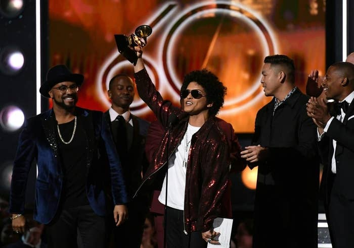 Winner: 24K Magic, Bruno MarsAwaken, My Love!, Childish Gambino4:44, Jay-ZDAMN., Kendrick LamarMelodrama, Lorde