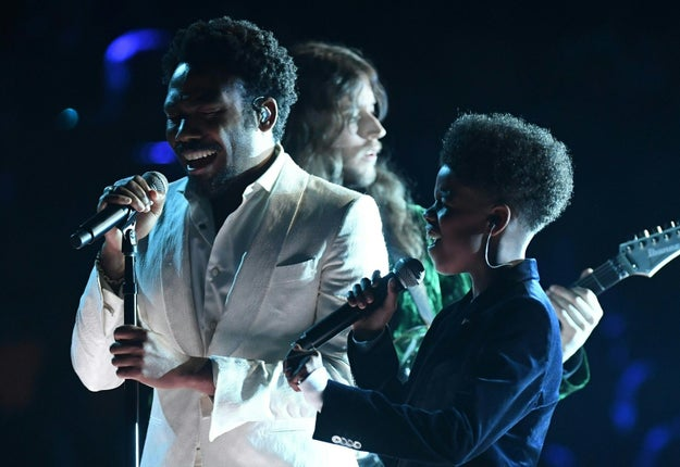 That's right! Old Simba and Young Simba together on the Grammys stage!
