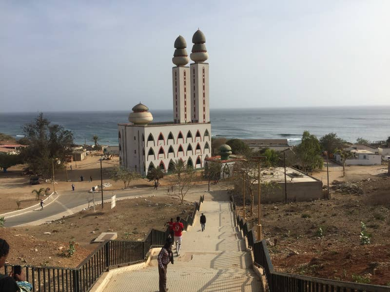 Along the corniche you can find the amazing Mosque of the Divinity. Whether you want to stop in or view from afar the mosque is a known landmark of the coast. If you walk around the mosque you will stumble upon a fish market and pirogues. All must sees when in Dakar.