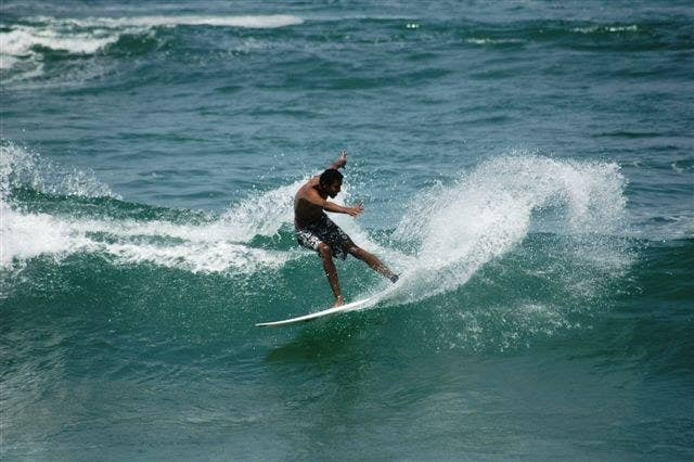 Malika Surf Camp is a place for both beginner and experienced surfers. You can take a surfing class or just rent equipment to ride the waves!