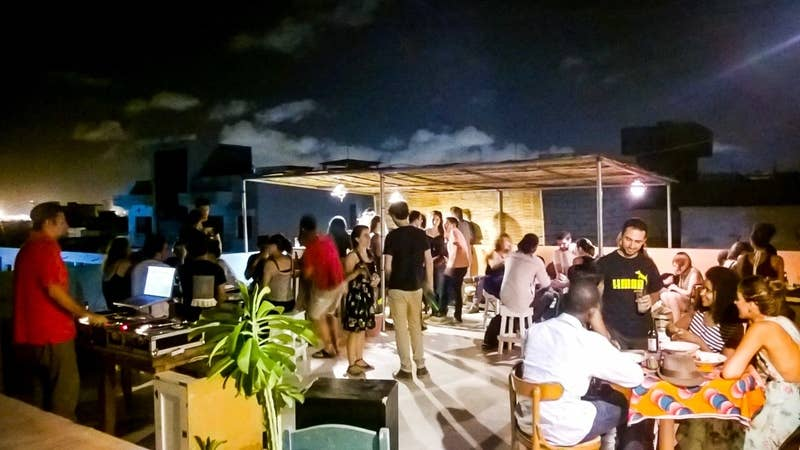 Hôtel du Phare plays host to movie nights every Tuesday and music nights every Thursday. All of this takes place on their rooftop bar which is a great place to meet new friends and view the city.