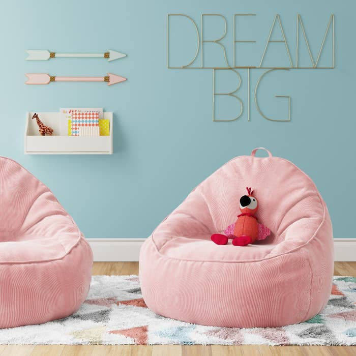 "Promising Review: ""This bean bag chair is a great quality and size. It's good for both kids and adults to sit in. It's also much firmer than I was expecting, which makes for a great chair. And the price is a plus!"" —Des12Price: $44.99 / Colors: four"