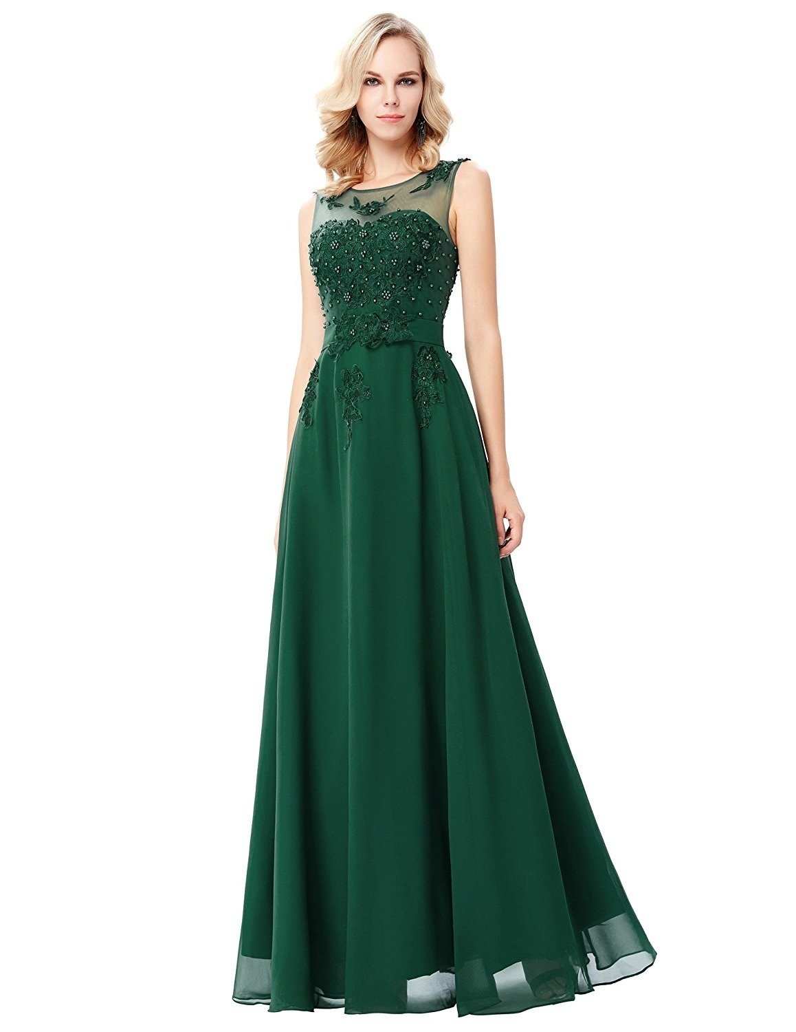 95355d0a82 A chiffon sweetheart gown with delicate beading so you look like a million  bucks without spending your future tuition. amazon.com