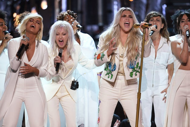 ...and now in 2018, Kesha lit the Grammys stage on FIRE with an empowering performance backed by other talented women in the industry.