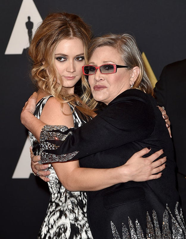 Fisher's daughter, Billie Lourd, took to Instagram to honor her late mother's achievement.
