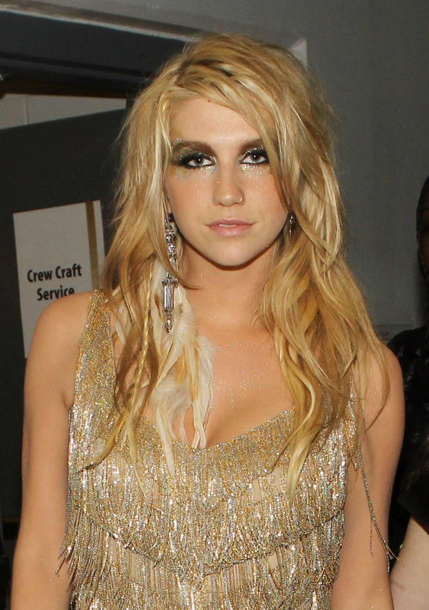 In 2010, Ke$ha showed up to the Grammys with feathers in her hair...
