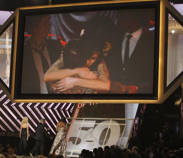 Amy Winehouse was the big winner at the 50th Annual Grammy Awards. She took home five Grammy awards, including Record of the Year, Song of the Year, and Best New Artist.