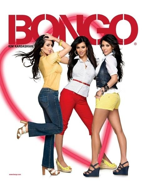 Kim Kardashian was the face of Bongo Jeans' spring 2008 campaign.