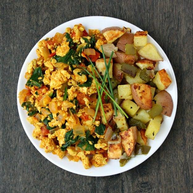 Vegetarian tofu scramble