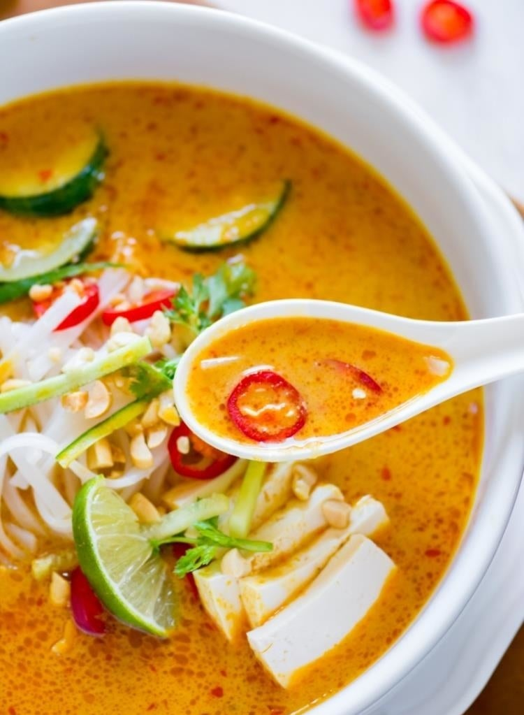 Coconut Curry Laksa Soup