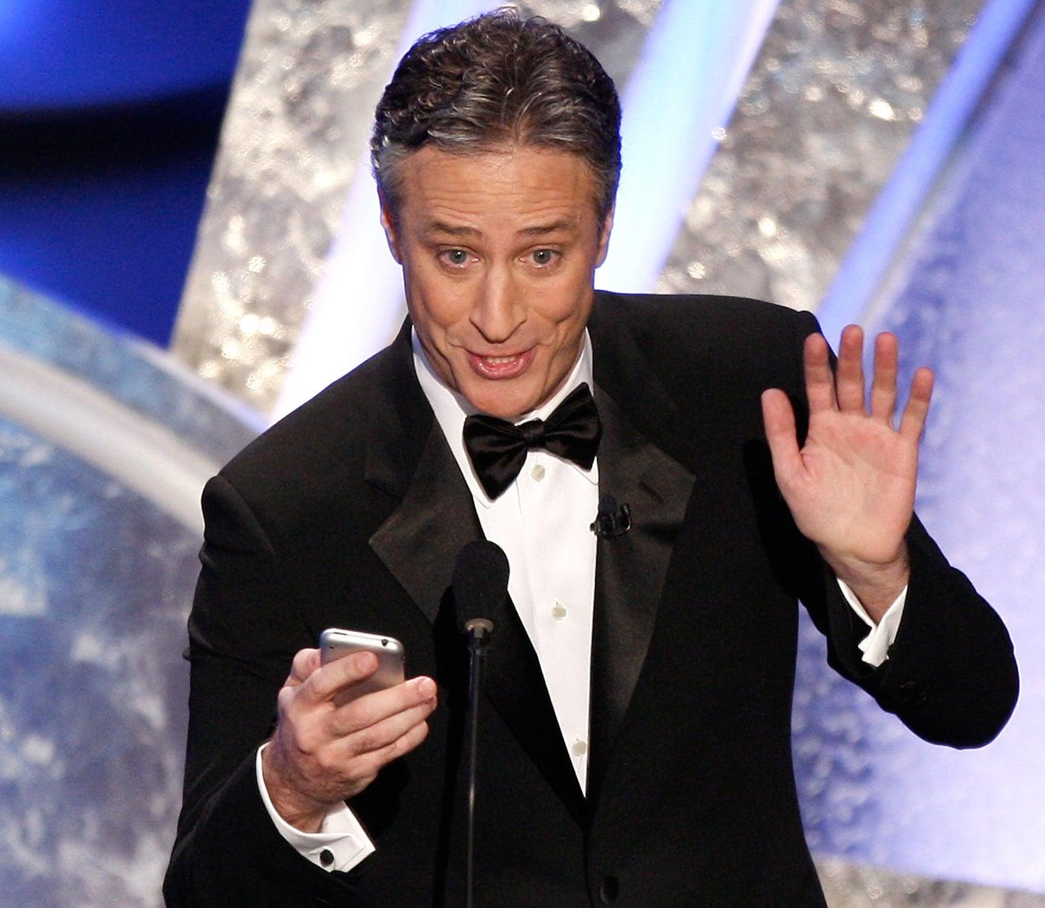 Jon Stewart hosted the 80th Annual Academy Awards.