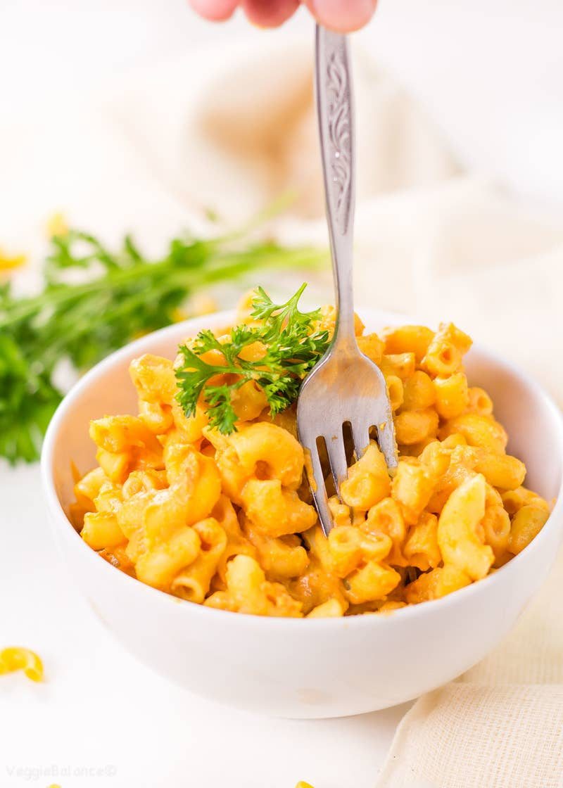Replicates that tangy cheesy flavor of all the best boxed mac 'n' cheese. (God bless nutritional yeast). Recipe here.