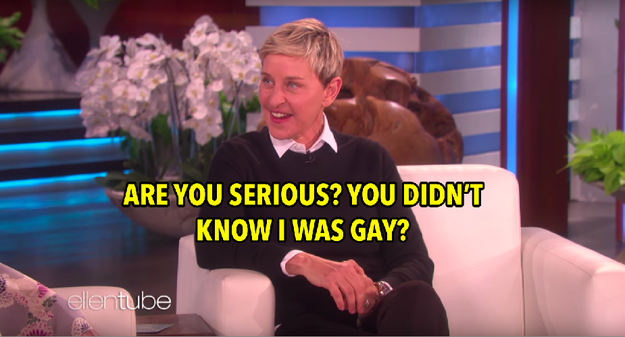 And, well...this was all news to Ellen.