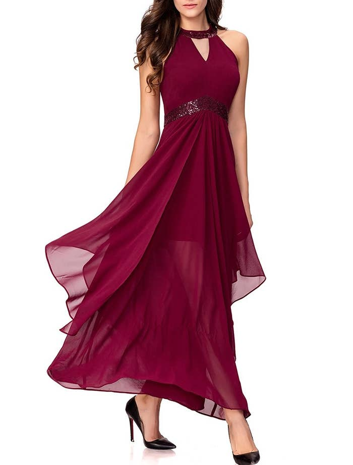 "Promising review: ""I was skeptical about buying the dress without trying it, but it fits perfectly. The quality is very good and the flow of the material amazing."" —AGPrice: $42.99 / Sizes: S–3X. / Also available in blue."