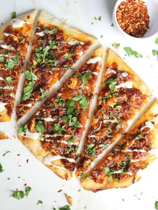 Cauliflower BBQ Pizza