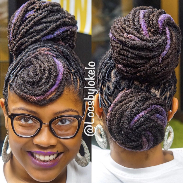 Can we please talk about how locs upgrade any and every style? That includes bangs, buns...