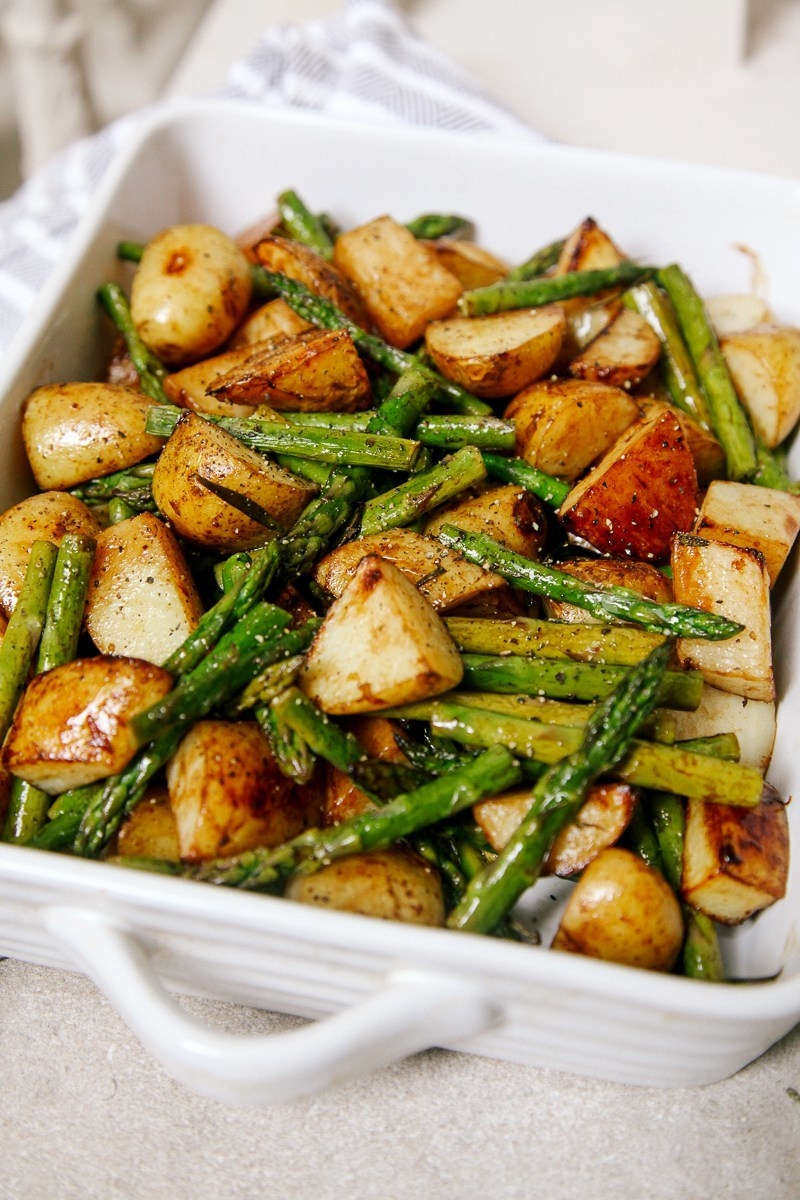 Add in sweet potatoes, parsnips, or other root vegetables to liven up this one-pan side dish. Recipe here.