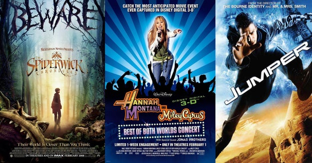 And finally, The Spiderwick Chronicles, Hannah Montana and Miley Cyrus: Best of Both Worlds, and Jumper were among the movies released into theaters.