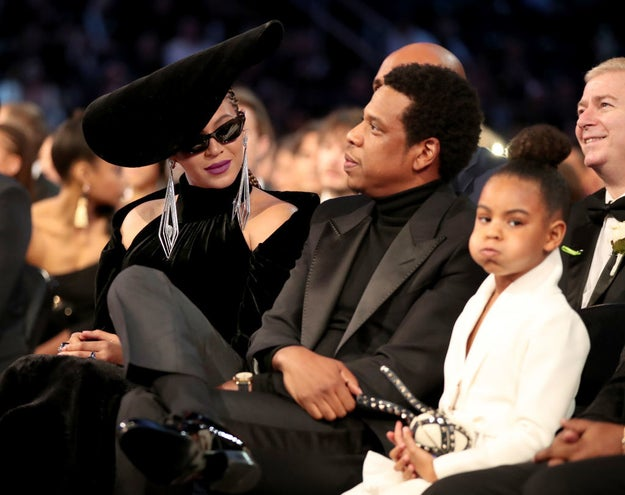 By now you probably know that Beyoncé and Jay-Z attended the Grammys last night, along with their daughter Blue Ivy (who was kinda unimpressed by it all, but that's another story).