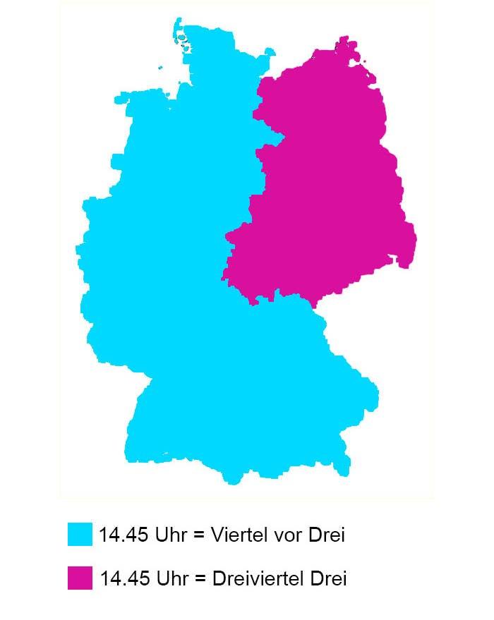 deutschland geteilt karte 13 Arten, Deutschland zu teilen