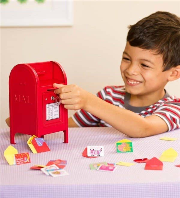 It comes with a mailbox, key, and 15 mini cards and envelopes.Get it from HeartSong for $14.98.
