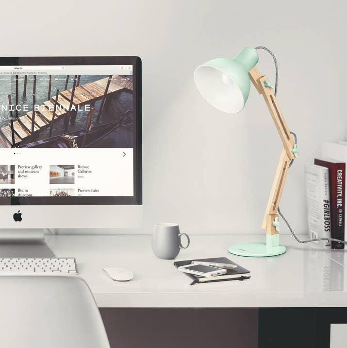 A Mixed Table Lamp That Might Make Your Desk Someplace You Actually Want To Work