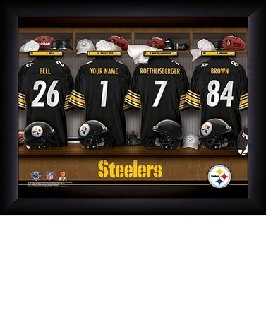 Surely, your Bestman/Groomsmen has favorite NFL football team. What better gift for a hardcore football fan, than a personalized Print for his man cave. Personalize with his name on a jersey hanging beside his favorite teams/players.