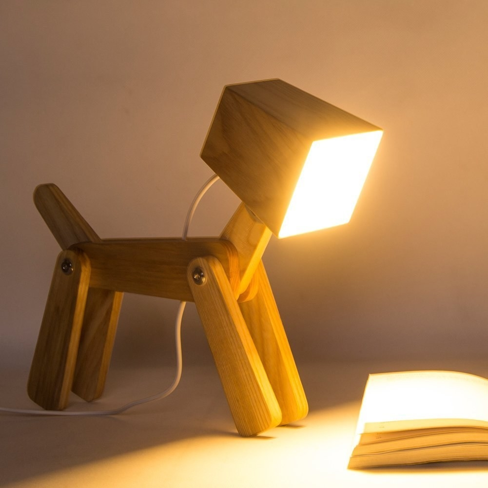 A Pup Shaped, Dimmable Touch Lamp For A Light Source Thatu0027s Also The  Goodest Boy.