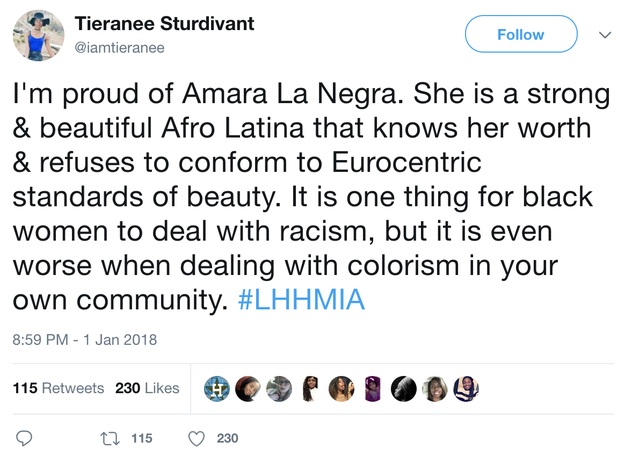 The scene sparked some major conversations on Twitter. People brought up colorism within the Latinx community...